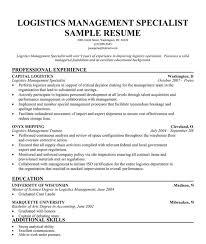 Sample Resume Logistics by Sample Logistics Resume 9 Examples In Word Pdf Logistics