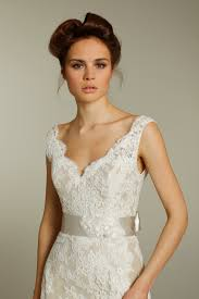 mermaid wedding dresses 2011 ivory v neck lace wedding dress with chagne ribbon sash