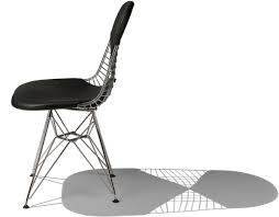 eames wire chair with pad hivemodern com