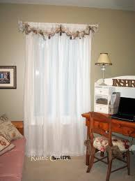 how to make a rag swag window treatment rustic crafts u0026 chic decor