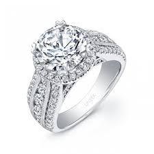wide band engagement rings uneek 1 carat diamond wide band halo engagem