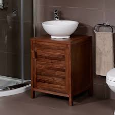 Wooden Bathroom Furniture Cabinets Remarkable Cool Wood Bathroom Enchanting Decoration Ideas
