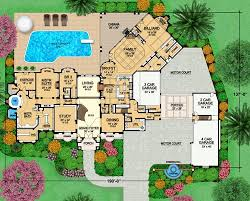 mansion home floor plans european luxury house plan