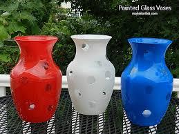 White Glass Vases Diy Red White And Blue Glass Vases