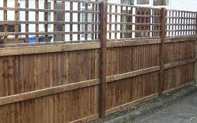 Timber Trellis Closeboard Panel Fencing With Trellis Tops