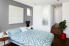 chambre gris et bleu murs et ameublement chambre tout en gris tendance