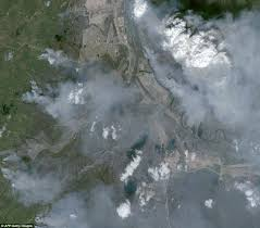 Canada Wildfire Satellite by Canada U0027s Cooler Temperatures And Rain Give Firefighters Battling