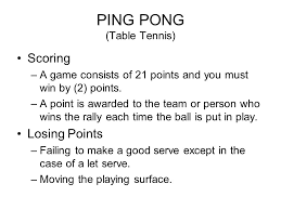 Table Tennis Doubles Rules Ping Pong Table Tennis Ppt Online Download