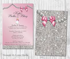 office depot invitations printing bling baby shower invitations diamond princess baby shower
