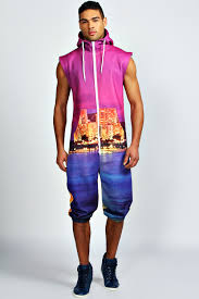 cityscape sublimation print polyester onesie buy
