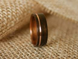 mens wedding bands wood inlay men s wooden wedding band with 14k gold inlay in macassar