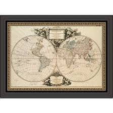 World Map Artwork by World Map Nova Totius 1641 Framed Great Minds Art Historic