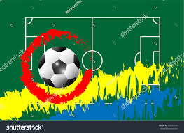 soccer cup advertising sport event announcement stock vector