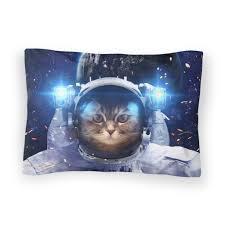 astronaut cat duvet cover shelfies