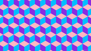 wallpaper 3d cubes blue purple pink ffb6c1 8a2be2 00bfff 0 129px