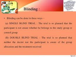 Define Single Blind Experiment Randomized Controlled Trials