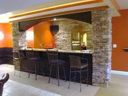 decorations rustic modern home bar decor ideas with light brown