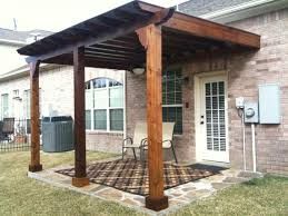 home decor exterior rustic style pergola cover with log wooden