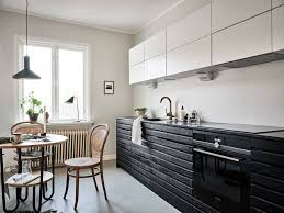 black bottom and white top kitchen cabinets kitchen in black and white coco lapine designcoco lapine