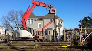 Homes On Pilings by Piling Installation On Lbi Youtube