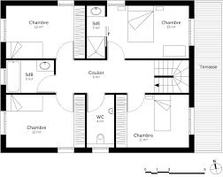 plan de maison a etage 5 chambres plan maison à étage 150 m ooreka