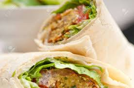 arab wrap falafel pita bread roll wrap sandwich traditional arab middle