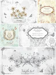 Invitation Cards Free Download Old Floral Invitation Vector Cards Free Download
