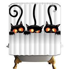 compare prices on halloween cat shower curtain online shopping