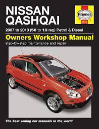 nissan qashqai petrol u0026 diesel 07 13 haynes repair manual