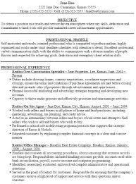 sample resume for real estate agent commercial real estate