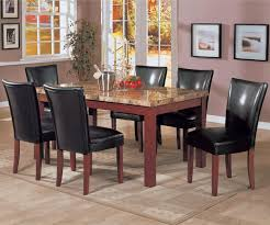 coaster telegraph marble top dining table 120311 table w chairs magnifier