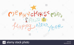 calligraphy in meaning merry and happy new year in