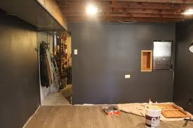 basement remodel update painted drywall and flooring life on
