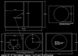 dayton reference rss390hf 4 15 subwoofer diy home theatre cabinet finish