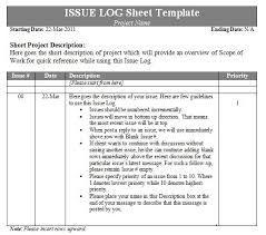 issue log template log templates