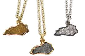 charm necklace wholesale images Wholesale state of kentucky druzy charm necklace lt br gt lt font color jpg