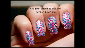 pink blue flower leopard nail art design tutorial youtube