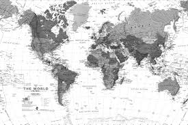 Uk World Map by Black And White Detailed Map Mural Muralswallpaper Co Uk