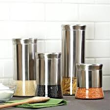 kitchen canisters set of 4 stainless steel kitchen canisters yuinoukin com