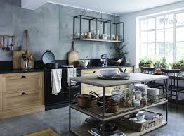 design sleuth stacked and wall mounted tables as kitchen storage
