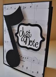 musical cards use sheet circles layered on scallop circles top with big