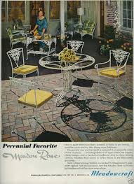 1967 meadowcraft meadow ornamental iron patio furniture 1960s