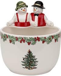 huge deal on spode christmas tree mr u0026 mrs snowman candy bowl
