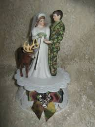 camo cake toppers deer wedding cake toppers