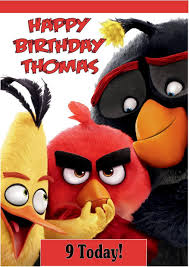 personalised angry birds movie birthday card