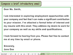 Format Of A Resume For Job Application by How To Write An Email Of Interest For A Job 13 Steps