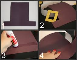 Pilgrim Hats Out Of Construction Paper - pilgrim bonnet template with the glue stick attach the yellow