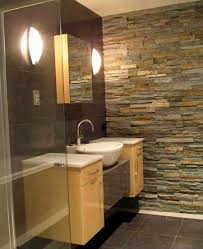 Bathroom Wall Ideas Pinterest Ledgestone Wall In Bathroom Rustic I It Beautiful