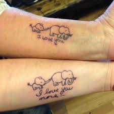 27 elephant elephant baby mother daughter tattoo ink