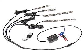 enclosed trailer interior light kit atv utv led lighting kit multi strip remote activated rgb color